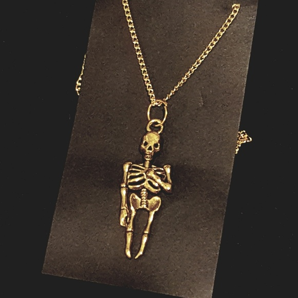 Jewelry gold skeleton pendant necklace poshmark gold skeleton pendant necklace aloadofball Gallery